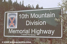 10th mtn highway sign 220