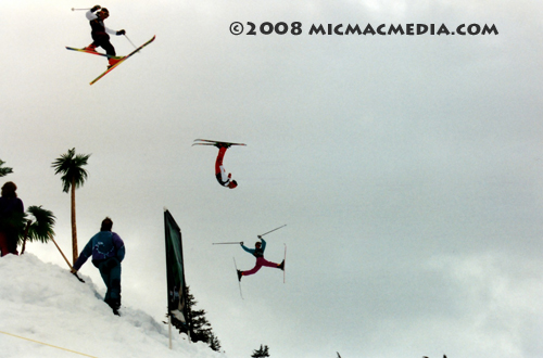 Nugget #133 E Stunt skiers at Squaw Valleyl1