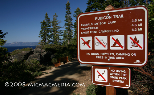 Nugget #149 A Rubicon Trail sign