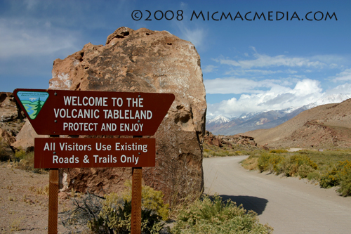 Nugget #152 A Volcanic Tableland sign
