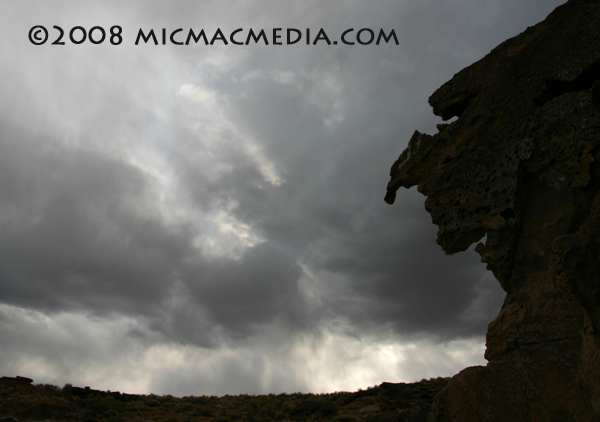 Nugget #152 H Storm over Owens Valley lava