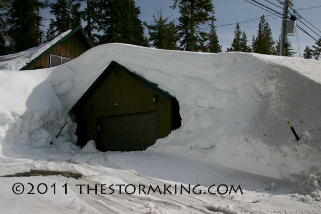 Nugget #201 Snow Covered  Garage