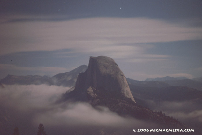 Nugget #35 Half Dome Yosemite midnight ID 700
