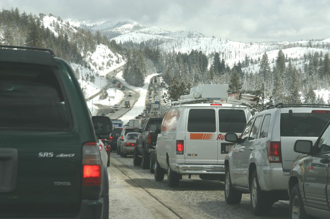Nugget #65 A I 80 traffic eastbound to Sierra