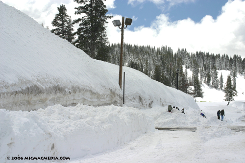 Nugget #65 C 4-17-06 Snow berm at Boreal ski resort ID